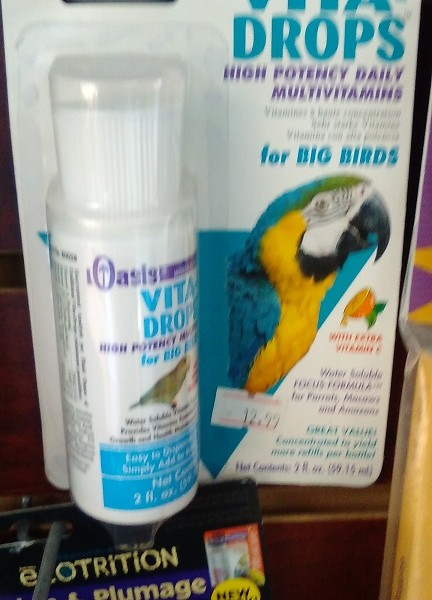 Vitamin Drops for Large Birds