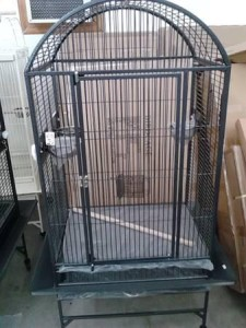 dome topped parrot cage dark green